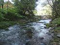 Bystrý horský charakter řeky se u první obce – Dolní Morava, začíná mírnit.