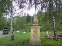 Boží muka na levém břehu Moravy.