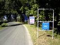Uvítací cedule do Rakouska hned za mostem přes Moravu.
