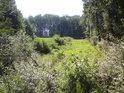 Průsek v pravobřežním lužním lese nedaleko obce Střížovice.
