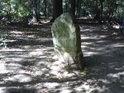 Opracovaný kámen s čitelným letopočtem 1755 v samém srdci soutoku řek Moravy a Dyje.