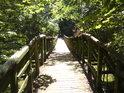 Dřevěná, poněkud chatrná lávka se dá doporučit k přechodu pouze tě otrlejším, najdeme ji v národní přírodní rezervaci Ramena řeky Moravy.