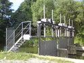 Stavidla pravobřežního náhonu Moravy, zvaného Malá voda nedaleko obce Řimice.