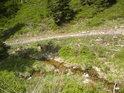 První náznak delty nalezneme na řece Moravě v nadmořské výšce již okolo 1000 m.