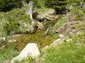 Je vidět, že koryto řeky se tu často mění.