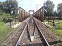 Železniční most přes Moravu na trati Kojetín – Přerov.