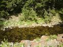 Průzračné vody řeky Moravy.
