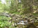 Kameny v řece se pohybují jen při velkých vodách.