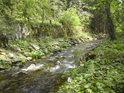 Morava posílená o Kamenitý potok uhání dále na jih.