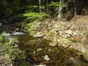 Voda řeky Moravy má charakteristickou barvu.